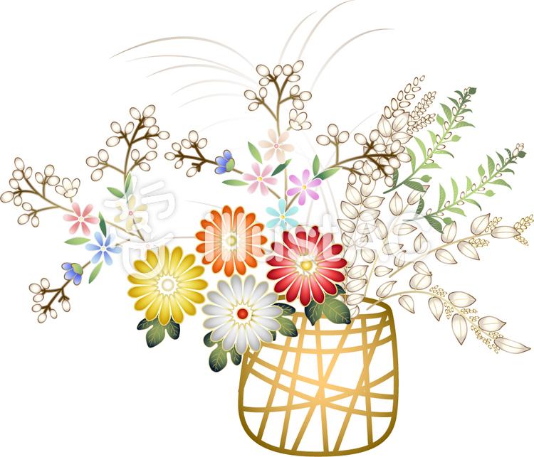キク科の花かごイラスト No 152355無料イラストならイラストac