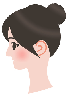 Free illustration, woman, side profile