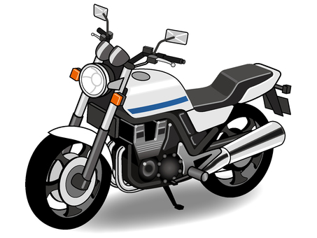 Illustration of a large bike
