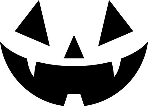Halloween pumpkin face simple