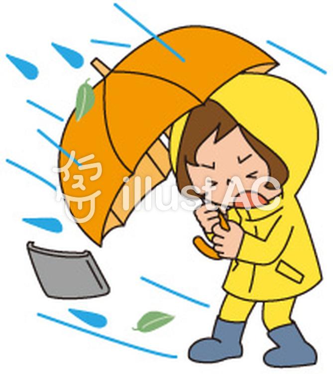 強風と大雨イラスト No 863497無料イラストならイラストac