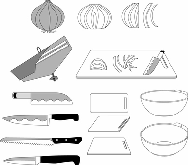 Material of cooking (monochrome board)