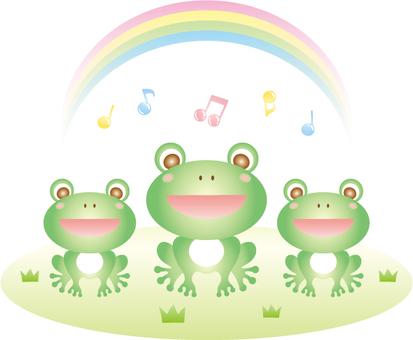 Frog chorus illustration