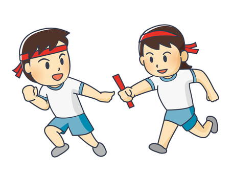 Illustration of the sports festival relay