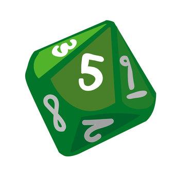 10 face dice (green)
