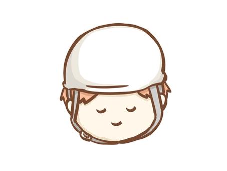 戴頭盔的人正常