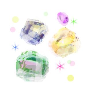 Glittering jewel
