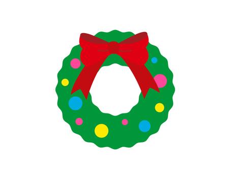 Simple christmas wreath