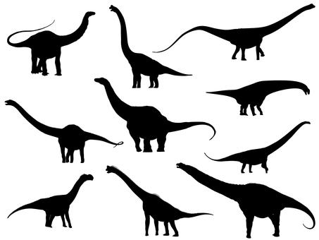 Herbivorous dinosaur _ silhouette 2