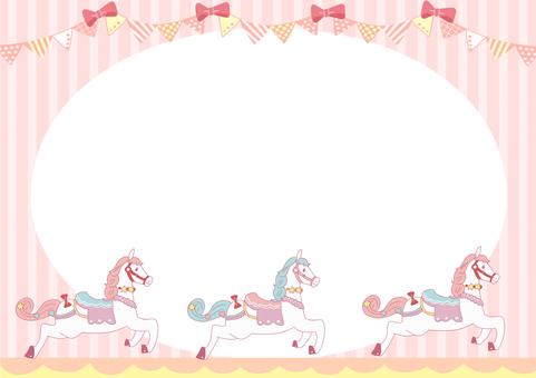 Merry-go round frame (pink)