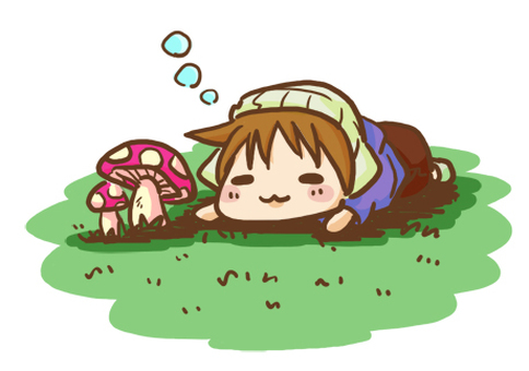 A mushroom and a nap