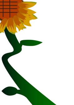 Squiggling sunflower 1 A4