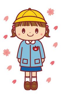 A kindergarten girl