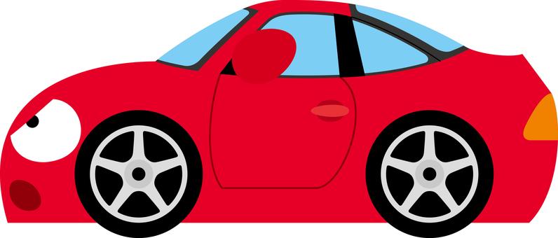 Car sports car doubts sideways