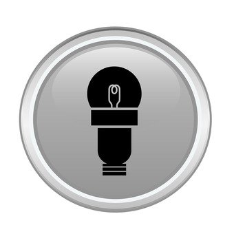 Mini lamp bulb icon