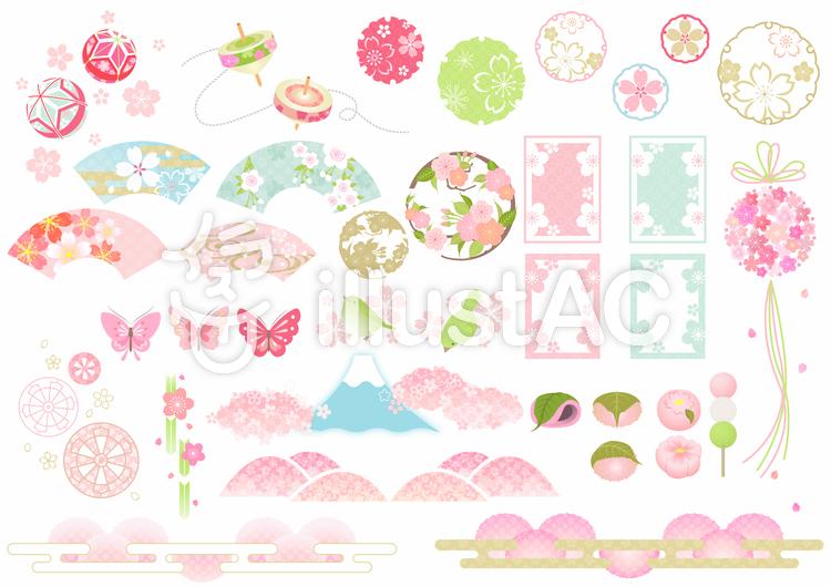 桜いろいろ(和風)02のイラスト
