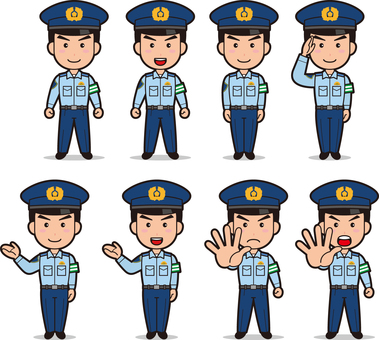Officer 2 (men, summer clothing, armband)