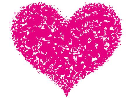 Stamp Heart _ Magenta _ cs