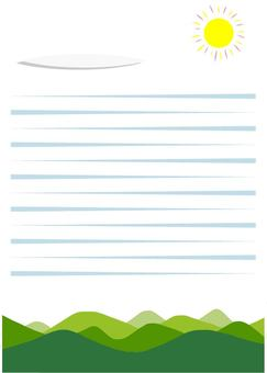Mountain and sky stationery