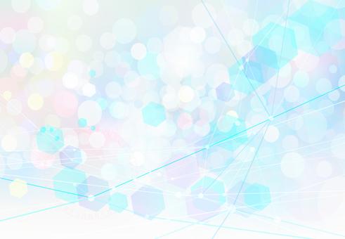 カラフルポップなネットワーク抽象背景素材