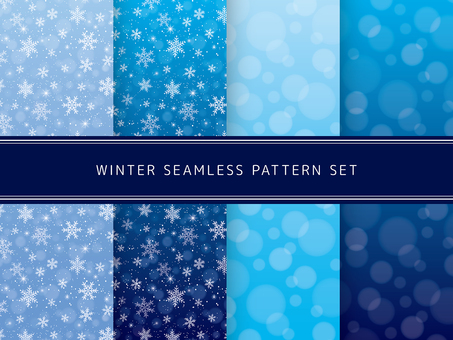 Seamless pattern set in winter (cold type)