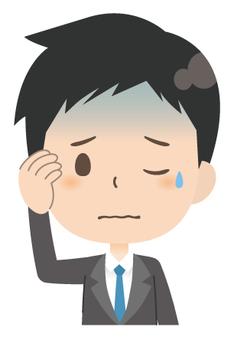 Businessman * emotion _ uneasiness