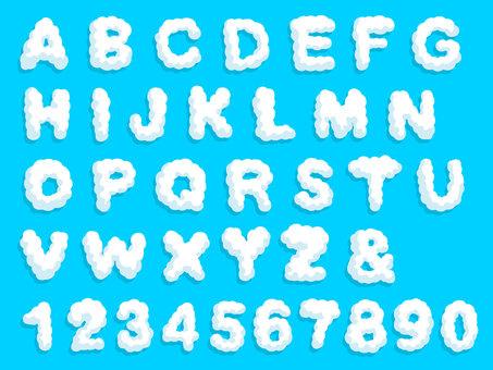 Alphabet cloud