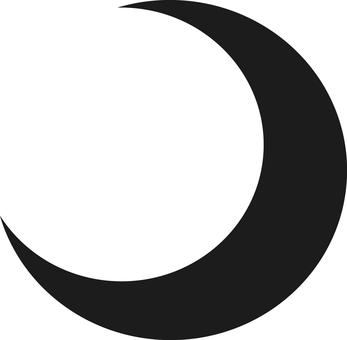 Moon, crescent, silhouette