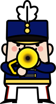 Uncle fairy Marching trumpeter