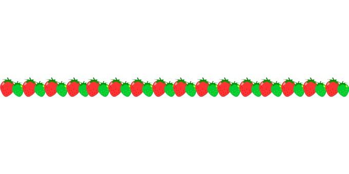 Strawberry dividing line