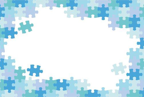 ジグソーパズル ブルー系