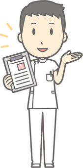 Male nurse - file - whole body
