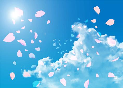 樱花和蓝天2插画10