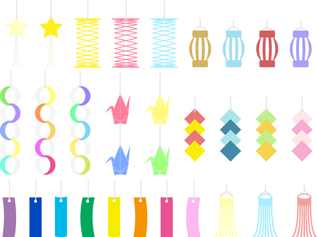 ai for summer Tanabata set decoration 31 points