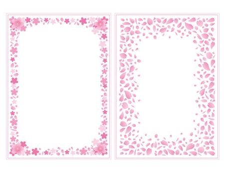 櫻花花瓣框架圖
