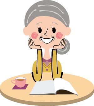 Granny chillin reading break