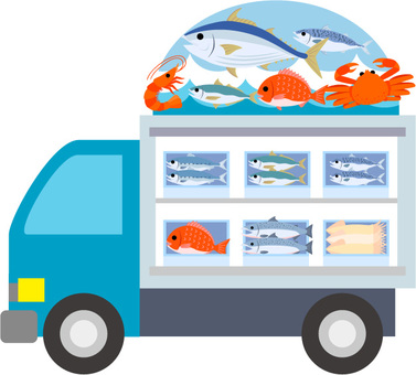 Mobile sale of fish