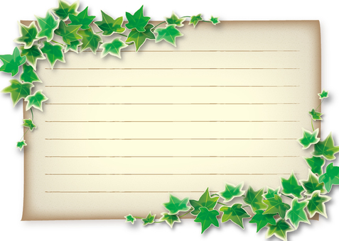 Ivy and paper frame