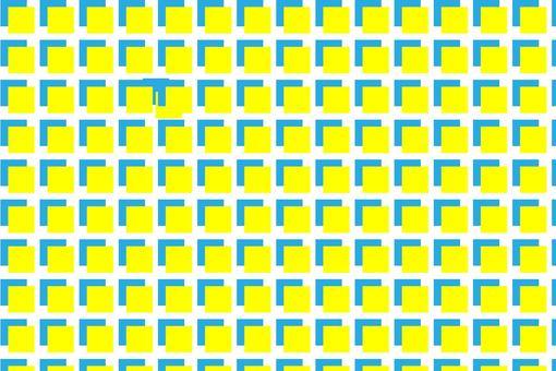 ブルーとイエローのブロック状模様