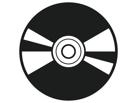 DVD 흑백 아이콘