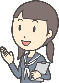 Junior high school sailor woman-363-bust