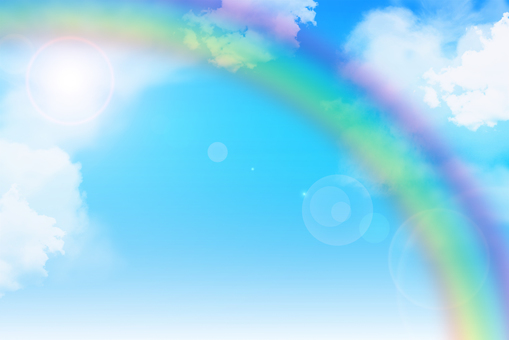 Rainbow and blue sky
