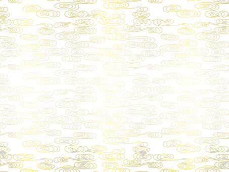 Yellow abstract wave pattern on white background