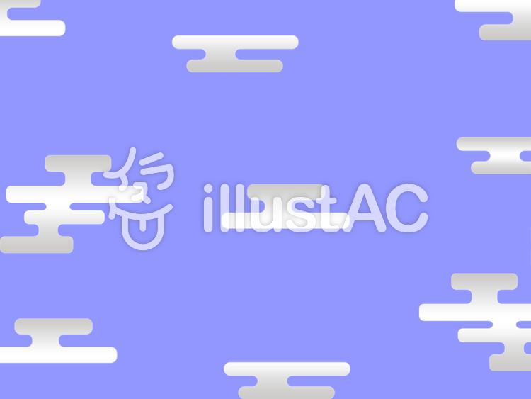 [和柄]エ霞文様のイラスト