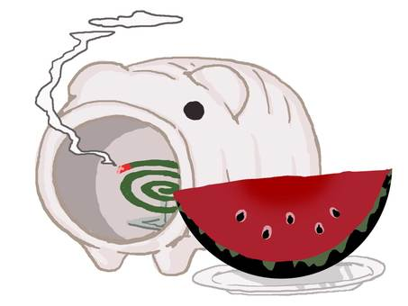 Mosquito pig and watermelon