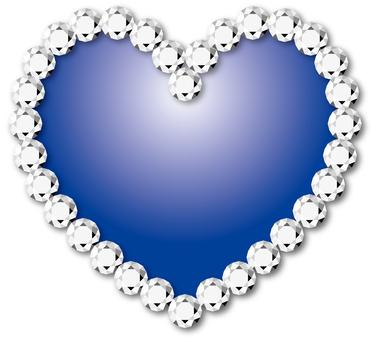 หัวใจ _ เพชร _ น้ำเงิน