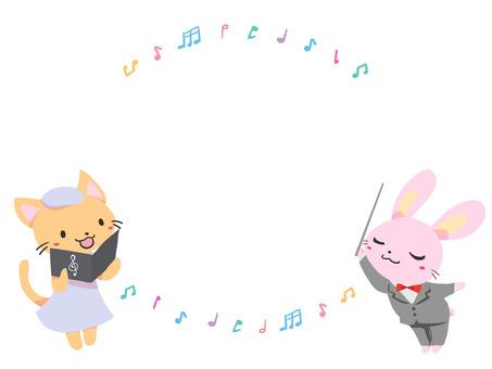 토끼와 고양이의 음악회 카드