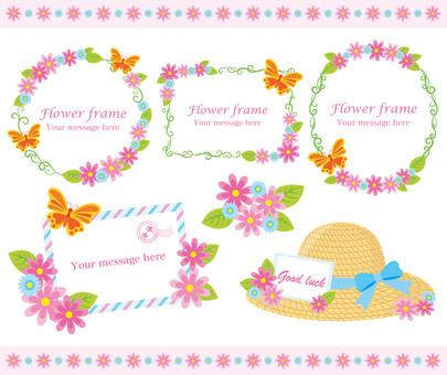 Flower frame material Pink