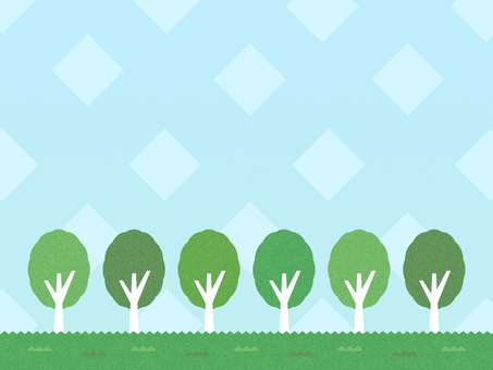 Row of trees background margin fashionable simple