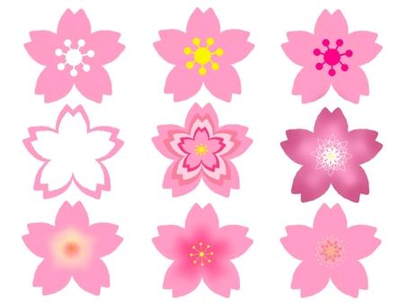 Cherry blossom icon assortment